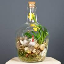 Dekorationsbeholder af glasflaske med kork Ø19cm H30cm