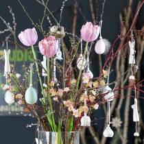 Tulipan hvid-pink 86 cm 3stk