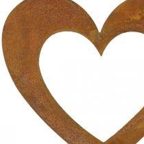 Hjerterust have dekoration metal hjerte 10cm 12stk