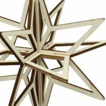 3D-stjernet træ til ophæng 13,5 cm 6stk