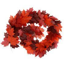Maple krans rød-orange 170cm