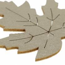 Spredt ahorn efterlader gul, brun, platin Assorteret 4 cm 72 stk
