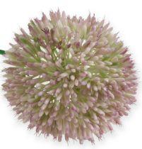 Kunstig alliumsilkeblomst grøn, lyserød prydløg som kunstig blomst