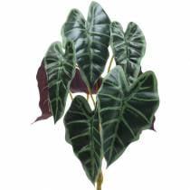 Alocasia pil bladgrøn, violet kunstig plante H48cm