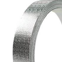 Aluminiumsbånd fladtråd sølv mat 20mm 5m
