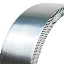Aluminiumstråd fladtråd sølv 30mm 3m