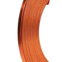 Fladtråd aluminium orange 5mm 10m