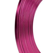 Pink fladtråd i aluminium 5mm 10m