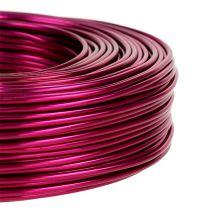 Aluminiumstråd Ø2mm 500g 60m pink
