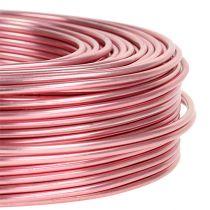 Aluminiumstråd Ø2mm 500g 60m lyserød