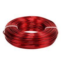 Aluminiumstråd Ø2mm 500g 60m rød