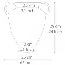 Amphora antikt look til plantning vase metal havedekoration H29cm