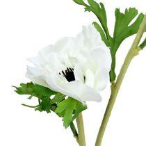 Kunstig hvid 6 anemon