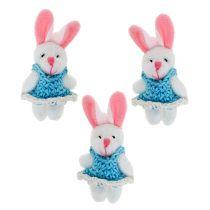 Vedhæng bunny 5,5 cm blå 9stk