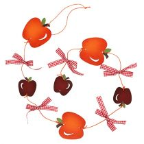 Æble krans rød 86 cm 3stk