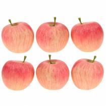 Dekorativ æblerosa, gul Real-Touch 6,5 cm 6stk