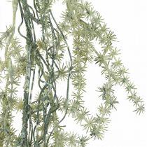 Kunstig asparges guirlande hvid, grå dekorationsbøjle 170cm