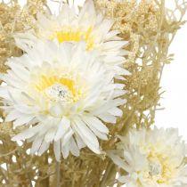 Kunstig buket asters og gypsophila beige, hvid 43cm