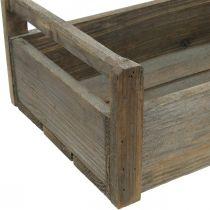 Trækasse håndværksboks Lurvet dekorativ kasse træ 47 × 28,5 × 16,5 cm