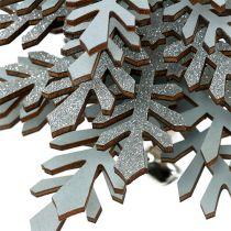 Træ til hængning af sølv med klokke 40 cm