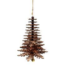 Træ til at hænge kobber med klokke 40 cm
