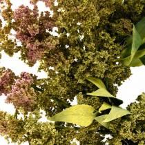 Lyngkrans kunstgrøn, lyserød Ø72cm