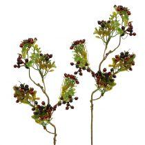 Kunstig bærgren cotoneaster rød 50 cm 2stk