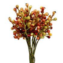 Bærgren rød / gul 20 cm 12stk