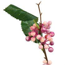 Berry gren kunstige lyserød-lilla 64 cm 6stk