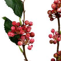 Kunstig bærgren rød og hvid 64 cm 6stk