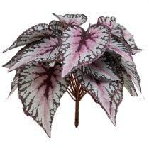 Kunstig begonia-busk Bordeaux 37cm