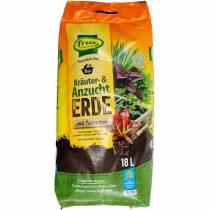 FRUX organisk urt og pottejord med naturlig ler organisk jord urtejord 18l