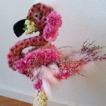 Blomster skumfigur Flamingo 70cm x 35cm