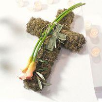 Blomsterskum krydser store grønne 53 cm 2stk grav smykker