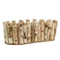 Planteskål oval birk 30,5 cm x 13 cm