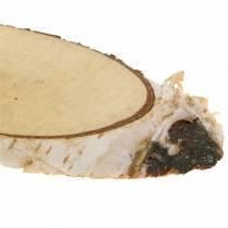 Birkeskiver oval naturlig 4 × 8 cm 1 kg til dekoration