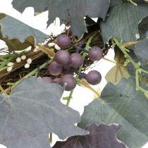 Dekorative kransbladblade og druer Efterårskrans vinstokke Ø60cm