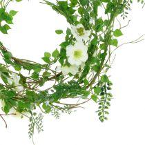 Blomsterkrans hvid 180 cm