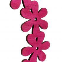 Blomsterkrans træ i lyserød Ø35cm 1p