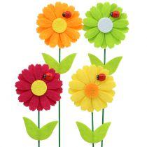 Dekorativ blomsterprop med marihøne H24cm 12stk