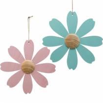 Træblomster at hænge, forårsdekoration, træblomst lyserød og blå, sommer, dekorative blomster 4stk