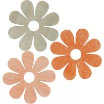 Blomster til drys orange, abrikos, brun drys deco træ 72stk
