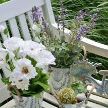 Blomsterdekoration lavendel i potte kunstige planter