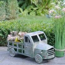 Blomsterpot lastbil zinkgrå, grøn 42 × 17,5 × 19,5 cm