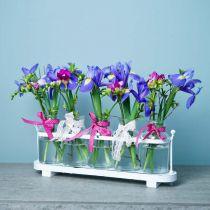 Blomstervase apoteker flasker apoteker glas dekoration på bakke 38cm