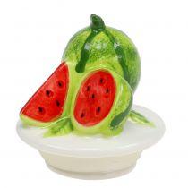Bonbonniere lavet af glas med frugt låg melon H15,5cm