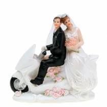 Brudeparret figur på motorcykel 12cm