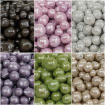Strålende dekorative perler 4mm - 8mm farvet 1l