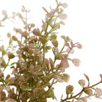 Boxwood gren lyserød, lyserød med glimmer 32 cm
