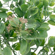 Bryllupsdekoration eukalyptusgrene med blomster dekoration buket grøn, lyserød 26cm
